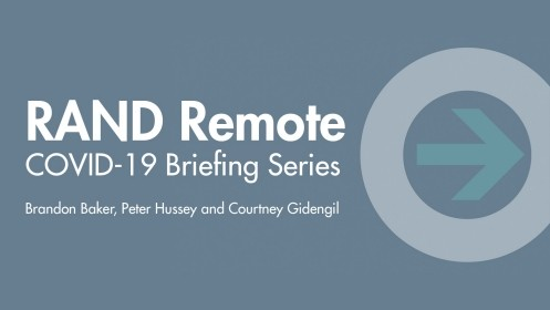 Peter Hussey and Courtney Gidengil discuss how RAND can help rethink and retool our emergency management systems by assessing rapidly emerging information, synthesizing a range of solutions, and disseminating actionable evidence for immediate response.