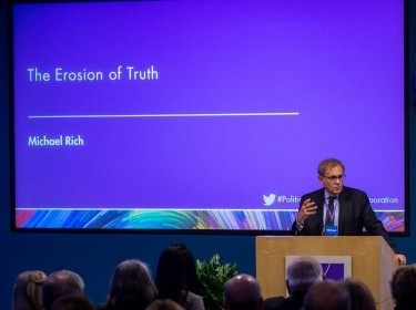 Michael Rich speaking about the Erosion of Truth at Politics Aside, November 11, 2016