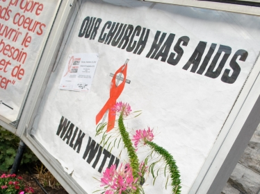 church aids walk sign