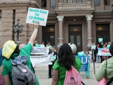 Nuns On The Bus rally and Texas Capitol visit about Medicaid