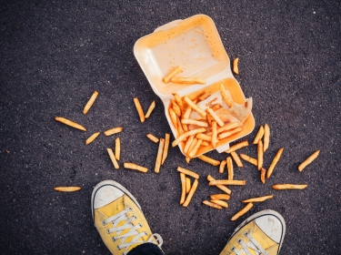 Fries on the ground