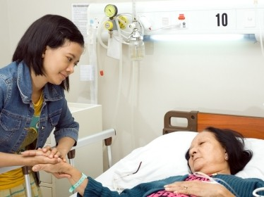 granddaughter,grandmother,sick,ill,old,senior,inpatient,visit,treatment,bed,rest,medication,grandma,elderly,woman,mother,daughter,cure,infusion,patient,health,hospital,sleep,illness,sickness,asian,ethnic,healthcare,room,togetherness,compassion,love,care,medical,holding,hands