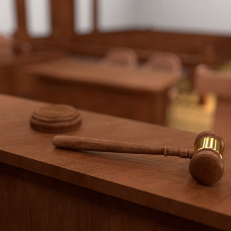 A gavel in a courtroom, photo by 3drenderings/Fotolia