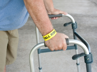 Fall Risk Using A Walker, photo by Angela Schmidt/iStock