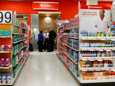 A Kaiser Permanente health clinic opens up inside a Target retail department store in San Diego , California November 17, 2014.