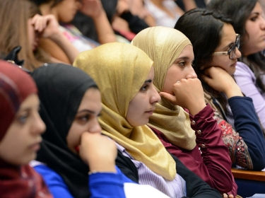 Young Israeli Arab women attend a conference, photo by U.S. Embassy Tel Aviv/CC BY-SA 2.0
