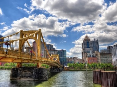 "Downtown Pittsburgh and the Allegheny River, photo by <a href=""https://www.flickr.com/photos/zrfraileyphotography/6510707249"">Zach Frailey</a> / <a href=""https://creativecommons.org/licenses/by-nc-nd/2.0/"">CC BY NC ND 2.0</a>/"