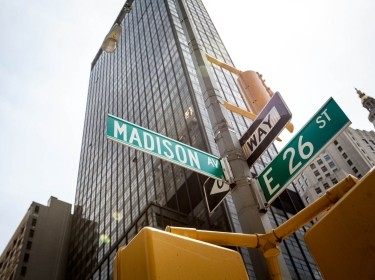 Madison Avenue street sign in New York City
