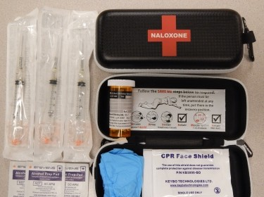Naloxone kits as distributed in British Columbia, Canada