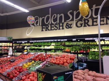 Produce area of new Shop N Save in the Hill District neighborhood of Pittsburgh, Pennsylvania.