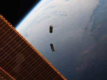 Cube stats deployed from the international space station