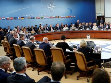 NATO defense ministers attend a meeting at NATO headquarters in Brussels, Belgium, October 26, 2016