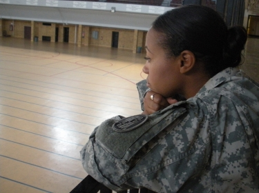 Maryland National Guard member participating in the annual Suicide Prevention Month observances.