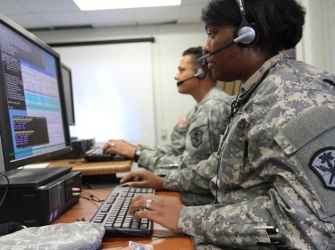 Soldiers with U.S. Army Cyber Command take part in network defense training
