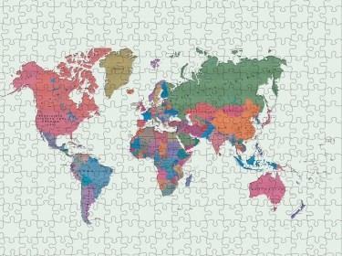 World map jigsaw puzzle