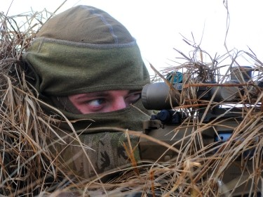 A U.S. Army sniper during a combined live-fire exercise in Adazi training area, Latvia, photo by Pablo N. Piedra/U.S. Army