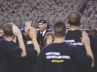 Chief of Staff of the Army, Gen. Raymond T. Odierno, issues the oath of office to a group of future soldiers