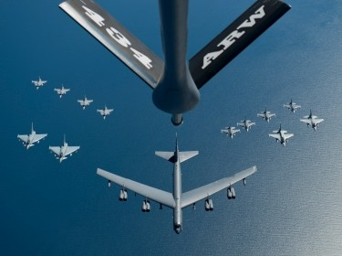 Refueling operations in a KC-135 Stratotanker