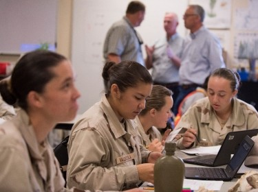 Cadets from Class 18-2 at the Idaho Youth ChalleNGe Academy work on assignments during one of their classes in Pierce, Idaho on Sept. 10, 2018, photo by Master Sgt. Becky Vanshur/U.S. Air National Guard