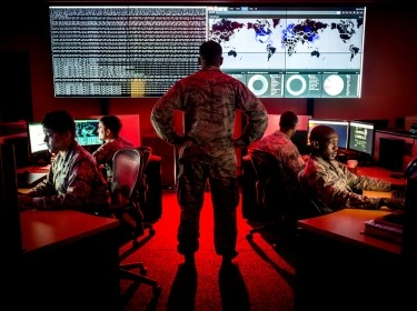 Cyber warfare specialists engage in weekend training at Warfield Air National Guard Base in Middle River, Maryland, June 3, 2017, photo by J.M. Eddins Jr./U.S. Air Force
