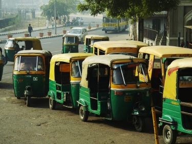 Mototransport (bicycle cars) in New Delhi, India