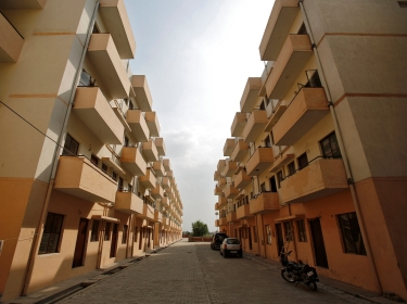 The Dinesh Nagar housing complex on the outskirts of New Delhi