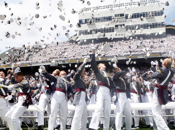 The U.S. Military Academy Class of 2011 at graduation, photo by Eric S. Bartelt/Pointer View