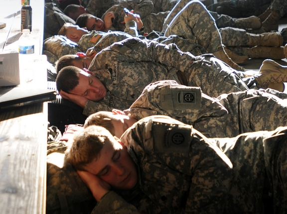 Paratroopers napping, photo by Sgt. 1st Class Seth Laughter/U.S. Army
