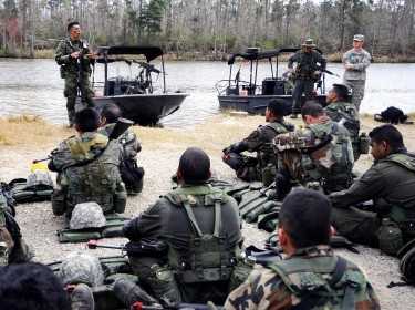 Joint naval special warfare training at Stennis Space Center