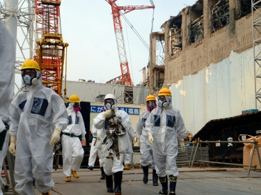IAEA experts at Fukushima
