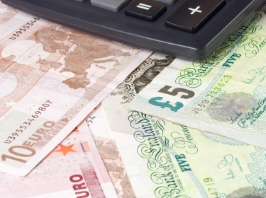 Forex - British and Euro currency pair with calculator