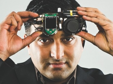 Ramesh Raskar, who invented a camera that operates at the speed of light to see around corners and do-it-yourself tools for medical imaging of the eye, photo by Len Rubenstein, courtesy of the Lemelson-MIT Program