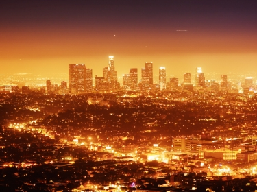 los angeles,los,angeles,night,city,downtown,skyline,cityscape,illuminated,sky,black,copyspace,glow,california,landmark,horizon,la,yellow,pink,gradient,scenic,landscape,travel,buildings,nightlife,square