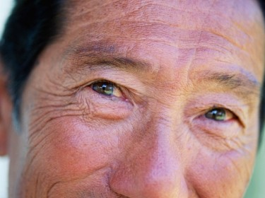 eyes of an elderly man
