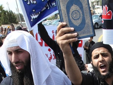 Islamist Salafis in Jordan calling for the release of their groups held in Jordanian, Syrian, and Iraqi prisons