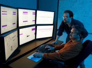 Department of Homeland Security researchers work at the Idaho National Laboratory in Idaho Falls, April 28, 2010