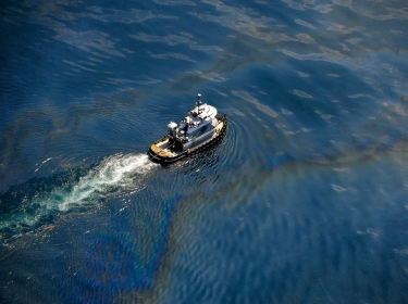 Aerial images of the Deepwater Horizon oil spill taken from a US Coast Guard HC-144 aircraft