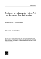 The Impact of the Deepwater Horizon Spill on Commercial Blue Crab Landings
