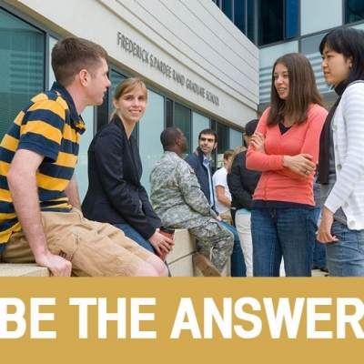 Pardee RAND Graduate School students and the motto Be the Answer